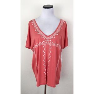 NWT Old Navy Embroidered Short Sleeve Top